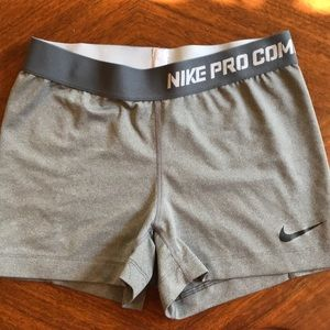 Nike Pro Combat Dry fit Gray Shorts